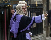 Lord Chancellors breakfast. Traditional procession of Judges to the Houses of Parliament to mark official start of year in the British legal system, London. Circuit Judges in their robes take a selfie... - Stefano Cagnoni - 02-10-2017