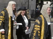 Lord Chancellors breakfast. Traditional procession of Judges to the Houses of Parliament to mark official start of year in the British legal system, London. Lord Justices of Appeal in full ceremonial... - Stefano Cagnoni - 2010s,2017,Appeal,ceremonial dress,ceremonies,ceremony,cities,City,CLJ,costume,costumes,dress,elite,elitism,EQUALITY,FEMALE,gown,gowns,Houses,INEQUALITY,judge,judges,judiciary,justice,Justice of Appea