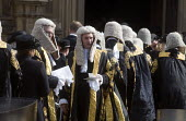 Lord Chancellors breakfast. Traditional procession of Judges to the Houses of Parliament to mark official start of year in the British legal system, London. Lord Justices of Appeal in full ceremonial... - Stefano Cagnoni - 02-10-2017