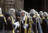 Lord Chancellors breakfast. Traditional procession of Judges to the Houses of Parliament to mark official start of year in the British legal system, London. Lord Justices of Appeal in full ceremonial... - Stefano Cagnoni - 2010s,2017,Appeal,ceremonial dress,ceremonies,ceremony,cities,City,CLJ,costume,costumes,dress,elite,elitism,EQUALITY,Establishment,gown,gowns,Houses,INEQUALITY,judge,judges,judiciary,justice,Justice o