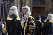 Lord Chancellors breakfast. Traditional procession of Judges to the Houses of Parliament to mark official start of year in the British legal system, London. Lord Justices of Appeal in full ceremonial... - Stefano Cagnoni - 2010s,2017,Appeal,ceremonial dress,ceremonies,ceremony,cities,City,CLJ,costume,costumes,dress,elite,elitism,EMOTION,EMOTIONS,EQUALITY,Establishment,gown,gowns,HAPPINESS,happy,Happy Judge,Houses,INEQUA