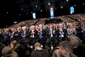 Cabinet members appluading and listerning to Theresa May speaking Conservative Party Conference, Manchester 2017 - Jess Hurd - 02-10-2017