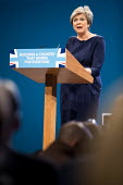 Theresa May speaking Conservative Party Conference, Manchester 2017 - Jess Hurd - 2010s,2017,Conference,conferences,CONSERVATIVE,Conservative Party,Conservative Party Conference,conservatives,FEMALE,Manchester,MP,MPs,Party,people,person,persons,POL,political,politician,politicians,