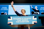 Theresa May with Frida Kahlo bracelet speaking Conservative Party Conference, Manchester 2017 - Jess Hurd - 2010s,2017,Conference,conferences,CONSERVATIVE,Conservative Party,Conservative Party Conference,conservatives,Frida Kahlo,Manchester,MP,MPs,Party,POL,political,politician,politicians,Politics,SPEAKER,