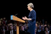 Theresa May speaking Conservative Party Conference, Manchester 2017 - Jess Hurd - 2010s,2017,Conference,conferences,CONSERVATIVE,Conservative Party,Conservative Party Conference,conservatives,Manchester,MP,MPs,Party,POL,political,politician,politicians,Politics,SPEAKER,SPEAKERS,spe