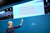 Theresa May with broken lettering, speaking Conservative Party Conference, Manchester 2017 - Jess Hurd - 2010s,2017,broken,Conference,conferences,CONSERVATIVE,Conservative Party,Conservative Party Conference,conservatives,Manchester,MP,MPs,Party,POL,political,politician,politicians,Politics,SPEAKER,SPEAK