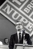 Rodney Bickerstaffe speaking at the annual NUPE Conference, Blackpool 1988. - Philip Wolmuth - 23-05-1988