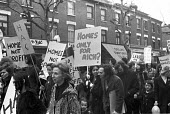 Homeless Action Committee protest at the shortage and high cost of housing, London, 1973 Homes only for the rich? - NLA - 21-03-1973
