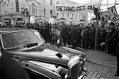 Protest against an official visit by Portuguese dictator Marcello Caetano, London 1973. On an official visit to the UK to mark 600th anniversary of friendship between UK and Portugal - NLA - 16-07-1973