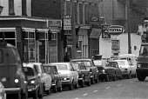 Queuing for petrol during the oil crisis, London 1973 - NLA - 1970s,1973,AUTO,AUTOMOBILE,AUTOMOBILES,AUTOMOTIVE,car,cars,cities,City,crisis,EBF,Economic,Economy,lack of,London,no,no petrol,oil,oil crisis,Oil Industry,petrochemical,petrol,petrol queues,petrol rat