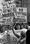Nurses protest in support of a 55 pay claim, London, 1974 - NLA - 13-05-1974