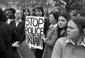 1974, School pupils strike and demonstration to demand release of The Brockwell Three who were arrested when the police lost control of a crowd in Brockwell Park, South London. The 3 were each sentenc... - NLA - 1970s,1974,activist,activists,adolescence,adolescent,adolescents,adult,adults,BAME,BAMEs,Black,Black and White,black youth,BME,bmes,Brockwell 3,campaign,campaigning,CAMPAIGNS,child,CHILDHOOD,children,