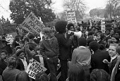 1974, School pupils strike and demonstration to demand release of The Brockwell Three who were arrested when the police lost control of a crowd in Brockwell Park, South London. The 3 were each sentenc... - NLA - 1970s,1974,activist,activists,adolescence,adolescent,adolescents,adult,adults,BAME,BAMEs,Black,Black and White,black youth,BME,bmes,boy,boys,Brockwell 3,campaign,campaigning,CAMPAIGNS,child,CHILDHOOD,