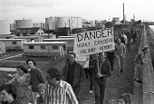 1974 Protest on Canvey Island against a new refinery being built by Occidental Petroleum and the Oil Industry - NLA - 1970s,1974,activist,activists,against,CAMPAIGNING,CAMPAIGNS,Canvey Island,capitalism,capitalist,Community Action Group,DEMONSTRATING,Demonstration,environmental degradation,Industries,Industry,island,