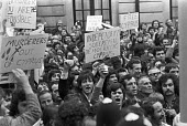 London 1974 Greek Cypriots protest at the Turkish invasion which followed the Greek Junta inspired military coup in Cyprus - NLA - 14-08-1974