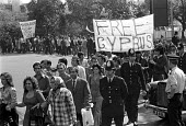 London 1974 Greek and Turkish Cypriots protest at the Turkish invasion which followed the Greek Junta inspired military coup in Cyprus - NLA - 20-07-1974