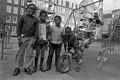 Children playing, Housing estate, Brixton 1974 - NLA - 25-05-1974