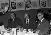 UK Press Awards 1974, the third Viscount Rothermere (L) and William Rees-Mogg (R) editor of The Times, London - NLA - 1970s,1974,AFFLUENCE,AFFLUENT,Bourgeoisie,cities,City,EDITING,editor,editors,elite,elitism,high,high income,income,INEQUALITY,journalism,journalist,journalists,London,male,man,media,men,newspaper,news