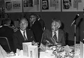 UK Press Awards 1974, with Hugh Cudlipp (R), London, of International Publishing Corporation and the Mirror Group - NLA - 1970s,1974,AFFLUENCE,AFFLUENT,Bourgeoisie,cities,City,EDITING,editor,editors,elite,elitism,high,high income,Hugh Cudlipp,income,INEQUALITY,journalism,journalist,journalists,London,male,man,media,men,M