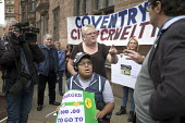 Parents of children with disabilities lobbying Coventry Labour Council against cuts to, and charges for, school transport, Coventry. The Council is to approve a decision to spend 11 million buying an... - John Harris - 10-10-2017