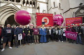 CWU protest against legal challenge by Royal Mail over a strike, Royal Courts of Justice, London - Jess Hurd - 12-10-2017