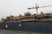Care home under construction, Evesham - John Harris - 2010s,2017,builder,builders,building,building site,Building Worker,buildings,Construction Industry,Construction Workers,crane,cranes,EBF,Economic,Economy,employee,employees,Employment,Evesham,greenbel