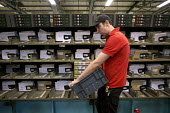 Postal workers, Swansea Mail Centre, South Wales. Automated sorting machine - John Harris - 11-07-2017