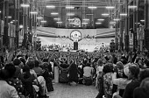 1973 Prem Rawat speaking to The Divine Light Mission Guru Puja Alexandra Palace London - NLA - 1970s,1973,Alexandra Palace,Belief,ceremonial,ceremonies,ceremony,charismatic,cities,City,congregation,conviction,divine,Divine Light Mission,faith,festival,festivals,GOD,guru,Guru Maharaj Ji,Guru Puj