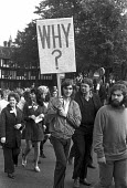 1973 Triumph Meriden workers protest against closure and in support of the factory occupation, Coventry, Why? - NLA - 1970s,1973,activist,activists,against,banner,banners,CAMPAIGNING,CAMPAIGNS,capitalism,DEMONSTRATING,Demonstration,FACTORIES,factory,FEMALE,Industries,industry,male,man,member,member members,members,me