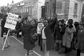Kings College Hospital pay strike by ancillary workers London, 1973, against wage restraint policy of the Heath government and privatisation. Lambeth Labour Party councillors joined the picket line - NLA - 07-03-1973