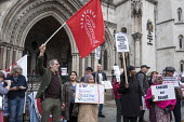 StopHDV protest against gentrification of council estate, High Court, London, as judicial review of the Haringey Development Vehicle which will hand over Council housing estates to property developer... - Philip Wolmuth - 25-10-2017