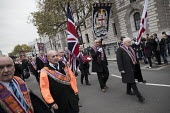 The Orange Order marching to The Cenotaph, Remembrance Day, Whitehall, London - Jess Hurd - Orange Order,2010s,2017,ACE,Belief,Cenotaph,comemoration,conviction,Culture,dead,faith,flag,flags,GOD,LIFE,LOL,London,Loyal Orange Institution,loyalism,loyalist,loyalists,march,marching,Orange,Orangem
