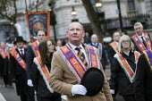 The Orange Order marching to The Cenotaph, Remembrance Day, Whitehall, London - Jess Hurd - Orange Order,2010s,2017,ACE,Belief,Bowler Hat,bowler hats,Cenotaph,comemoration,conviction,Culture,dead,faith,GOD,LIFE,LOL,London,Loyal Orange Institution,loyalism,loyalist,loyalists,march,marching,Or