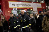 Firefighters on Justice for Grenfell silent walk, Kensington and Chelsea, London - Jess Hurd - 14-11-2017