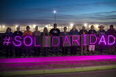 Eloy, Arizona USA Solidarity protest at Eloy Immigrant Detention Center against the detention of migrants. The rally was part of a weekend of actions near the U.S.-Mexico border organized by the Schoo... - Jim West - 10-11-2017