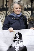 Jenny Jones, Green Party, Protest against Police anonymity at The Public Inquiry into Undercover Policing, Royal Courts of Justice, London. The Campaign Opposing Police Surveillance publicises and sup... - Jess Hurd - 2010s,2017,activist,activists,adult,adults,against,anonymity,banner,banners,campaign,campaigner,campaigners,campaigning,CAMPAIGNS,court,court case,courts,covert,DEMONSTRATING,demonstration,DEMONSTRATI