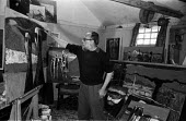 Stanley Clifford-Smith painter and Great Bardfield Artist working in his studio 1958. The Great Bardfield Artists were a community of artists who lived in Great Bardfield, a village in north west Esse... - Alan Vines - 03-07-1958
