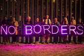 Eloy, Arizona USA Solidarity protest at Eloy Immigrant Detention Center against the detention of migrants. The rally was part of a weekend of actions near the U.S.-Mexico border organized by the Schoo... - Jim West - 11-11-2017
