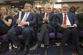 Tom Watson, John McDonnell, Jeremy Corbyn laughing Labour Party Rally West Bromwich - John Harris - 2010s,2017,HUMOUR,Jeremy Corbyn,John McDonnell,Labour Party,laugh,laughing,laughter,MP,MPs,Party,POL,political,politician,politicians,Politics,rallies,rally,Tom Watson,wellbeing