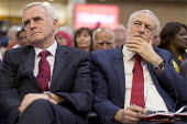 John McDonnell, Jeremy Corbyn, Labour Party Rally West Bromwich - John Harris - 2010s,2017,intelligence,intelligent,Jeremy Corbyn,John McDonnell,Labour Party,MP,MPs,Party,POL,political,politician,politicians,Politics,rallies,rally,reason,think,thinking,THOUGHT,thoughts