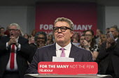 Tom Watson listerning to chants of Oh Jeremy Corbyn, Labour Party Rally West Bromwich - John Harris - 2010s,2017,Labour Party,MP,MPs,Party,POL,political,politician,politicians,Politics,rallies,rally,Tom Watson