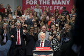 Jeremy Corbyn speaking Labour Party Rally West Bromwich. Standing ovation - John Harris - 2010s,2017,applauding,applause,Jeremy Corbyn,Labour Party,MP,MPs,Party,POL,political,politician,politicians,Politics,rallies,rally,SPEAKER,SPEAKERS,speaking,SPEECH,Standing ovation