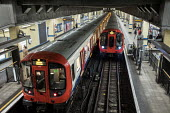 District Line trains, Aldgate East tube station, London - Philip Wolmuth - 01-11-2017