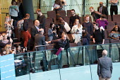 Security guards removing protesters, Switched On London environmental campaigners bring Mayors Question Time to a standstill to demand Mayor Sadiq Khan keeps his climate change promises. City Hall, Lo... - Philip Wolmuth - 16-11-2017