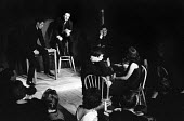 Jeremy Geidt entertaining with satirical comedy at The Establishment London Soho 1961. The Establishment Club was created by Peter Cook and Nicholas Luard in Greek Street in the West End of London wit... - Romano Cagnoni - 17-11-1961
