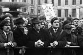 Miners and supporters protest, miners strike 1972 Trafalgar Square London for increased pay - Chris Davies - 1970s,1972,activist,activists,against,CAMPAIGN,campaigner,campaigners,CAMPAIGNING,CAMPAIGNS,cities,City,DEMONSTRATING,Demonstration,DEMONSTRATIONS,disputes,EARNINGS,Income,INCOMES,industrial dispute,i