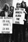 Young South Wales miners at Paddington Station, Miners and supporters protest, miners strike 1972 London for increased pay - Chris Davies - 1970s,1972,activist,activists,against,CAMPAIGN,campaigner,campaigners,CAMPAIGNING,CAMPAIGNS,cities,City,coal,DEMONSTRATING,Demonstration,DEMONSTRATIONS,disputes,EARNINGS,Income,INCOMES,industrial disp
