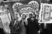 NUM COSA Miners and supporters protest, miners strike 1972 Trafalgar Square London for increased pay - Mike Tull - 1970s,1972,activist,activists,against,CAMPAIGN,campaigner,campaigners,CAMPAIGNING,CAMPAIGNS,cities,City,CO OP,COSA,DEMONSTRATING,demonstration,DEMONSTRATIONS,disputes,EARNINGS,Income,INCOMES,industria