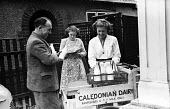 Milk delivery by Caledonian Dairies to a local shop 1948, pit village of Peterlee, County Durham - Elisabeth Chat - 01-06-1948