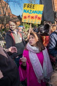 Tulip Siddiq MP, rally for the release of her constituent Nazanin Zaghari-Ratcliffe from prison in Iran, West Hampstead, London - Philip Wolmuth - 2010s,2017,activist,activists,Asian,Asians,BAME,BAMEs,Bangladeshi,Bangladeshis,Black,Black and White,BME,bmes,CAMPAIGNING,CAMPAIGNS,DEMONSTRATING,demonstration,diversity,ethnic,ethnicity,FEMALE,INMATE